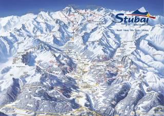 Карта трасс долины Штубай