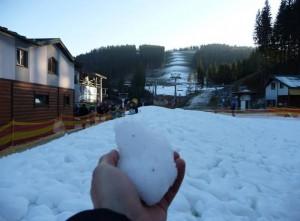 Первый снег на Буковеле